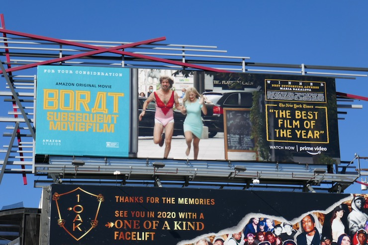 Borat Subsequent Moviefilm FYC billboard