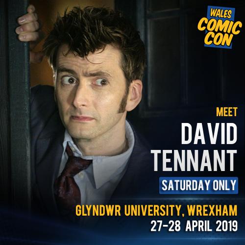 David Tennant - Wales Comic Con fan convention - Saturday 27th April 2019