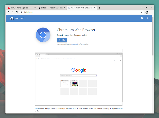 Chromium web browser flathub