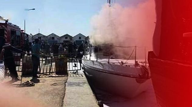 إخماد حريق اندلع في خافرة الحرس البحري بالمهدية .. التفاصيل