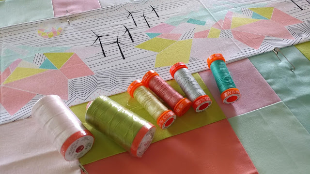 Aurifil thread and Palm Canyon fabric