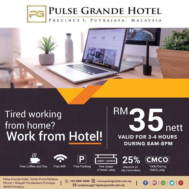"""Ini Senarai Hotel Yang Menyediakan Pakej """"Work From Hotel"""""""