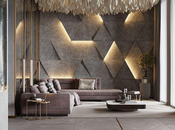 Mid-century modern living room designs