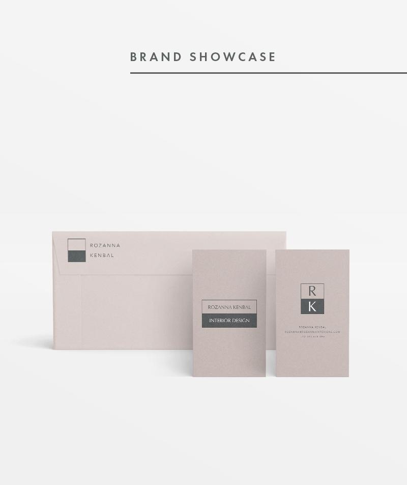Premade Brand Identity Rozanna Kenbal Business Card Design