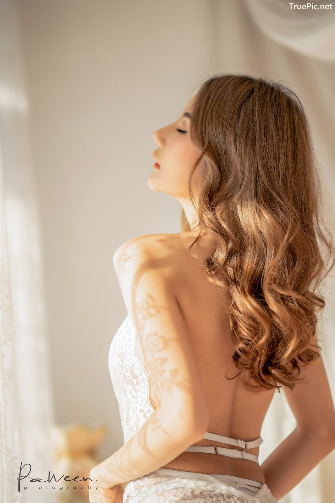 Image Thailand Model - Atittaya Chaiyasing - White Lace Lingerie - TruePic.net - Picture-5