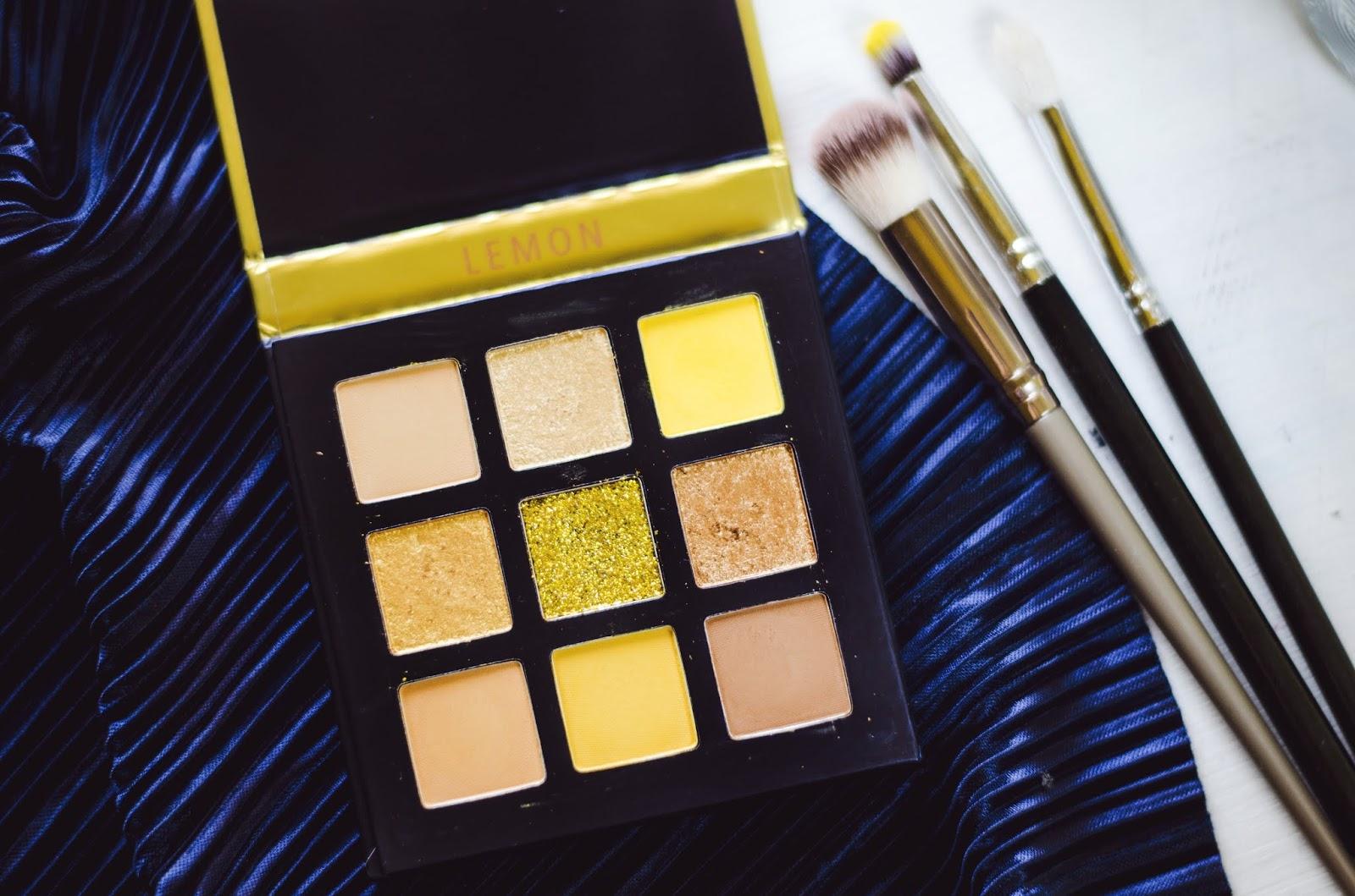 Beauty Glazed yellow LEMON eyeshadow palette highly pigmented glitter