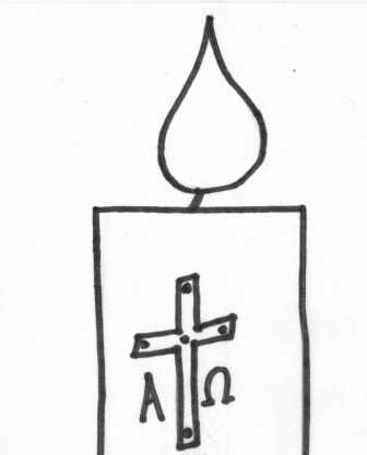Paschal Candle Coloring Sheet