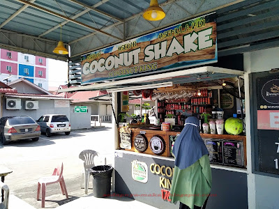 kiosk coconut shake