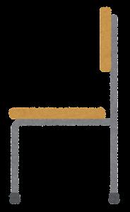 木の椅子のイラスト(横)