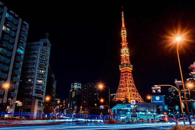 赤羽橋,東京タワー,夜景