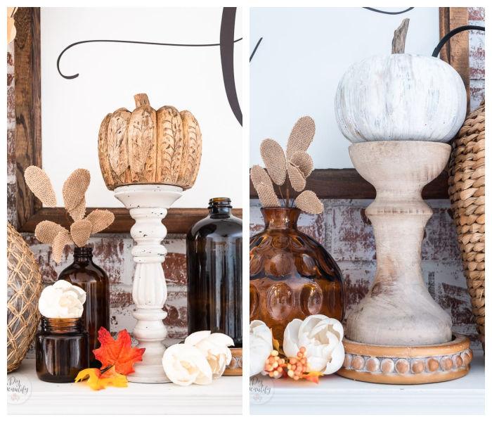 pumpkins on candlesticks