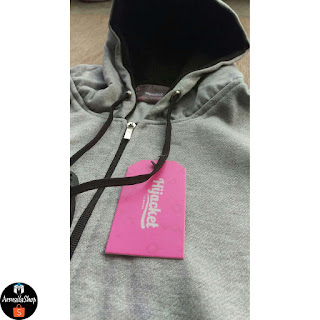 HJ13 Hijacket BASIC Grey x Black ORIGINAL PREMIUM FLEECE JAKET HIJAB JAKET MUSLIMAH