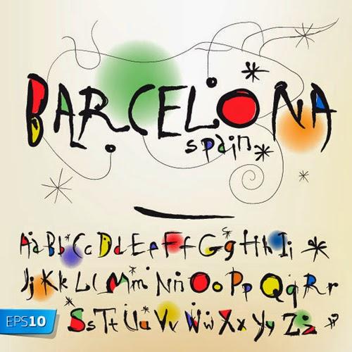 Barcelona Vector Alphabet