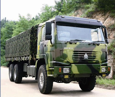 videos de camiones camion militar chino china 6x6 sinotruck howo