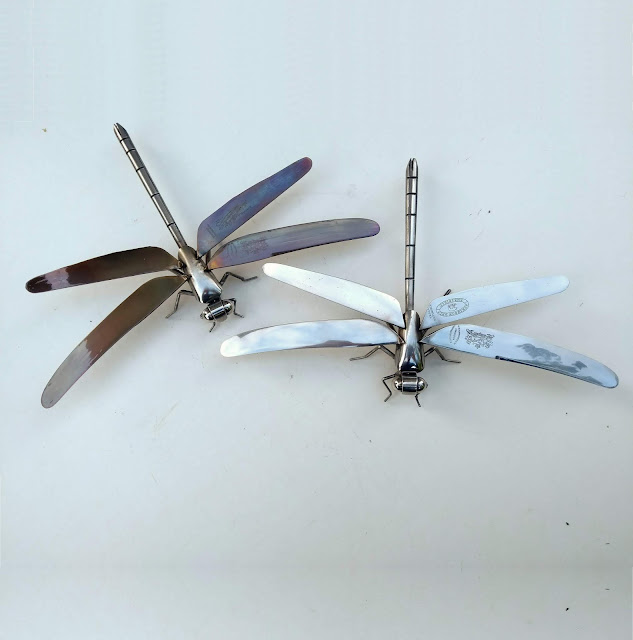 Ed Hill Metal Art - Dragonflies
