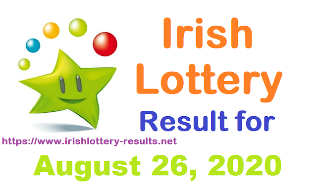 Irish Lottery Results for Wednesday, August 26, 2020