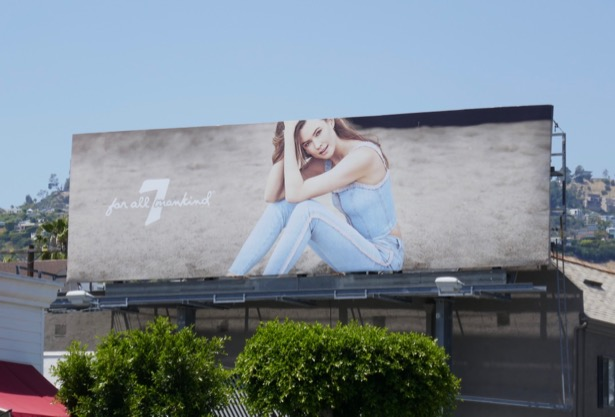 7 for all Mankind Spring 2019 billboard