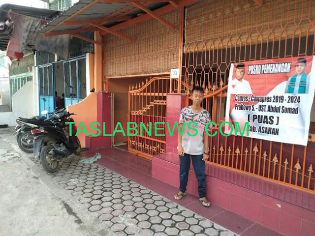 Posko pemenangan Prabowo dan ustad Abdul Somad putra kelahiran Asahan.
