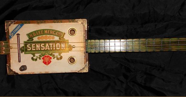 vintage workwear: H.D. LEE MERCANTILE CO. Cigar Box Guitar