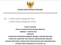 Surat Edaran Penyelenggaraan Sistem CAT, BKN Sesuai Prokes Tahun 2021