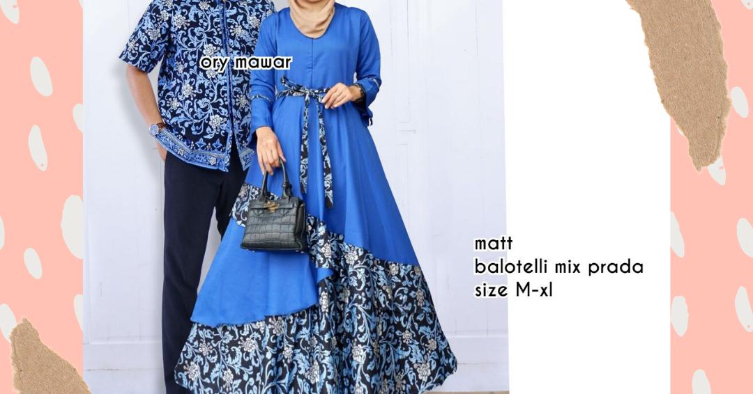 Batikcouple.Store: Model Baju Gamis Batik Couple Sarimbit ...