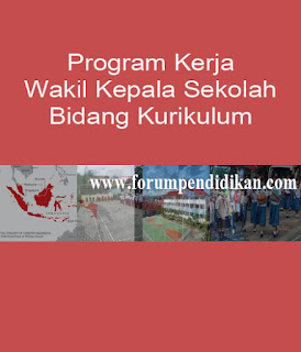 Program Kerja Wakil Kepala Sekolah Bidang Kurikulum