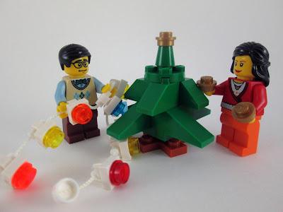 MOC LEGO Decorar a Árvore de Natal