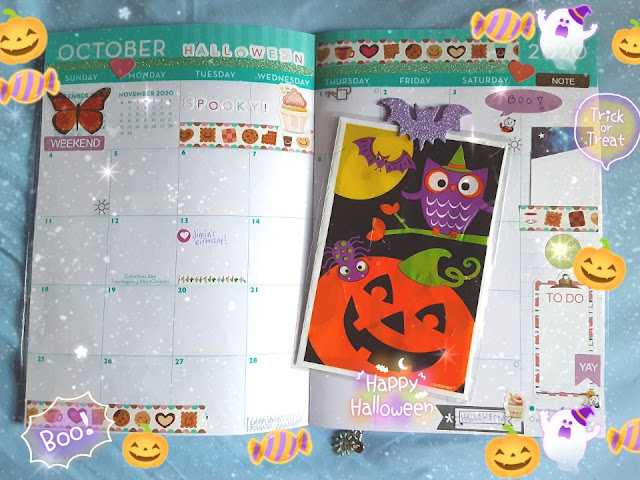 KooriStyle, Koori, Style, Planner, Decoration, October, 2020, Octubre, Deco, Decoración, Halloween, Stationery, Stickers, Candy, Ghost, Agenda, Monthly