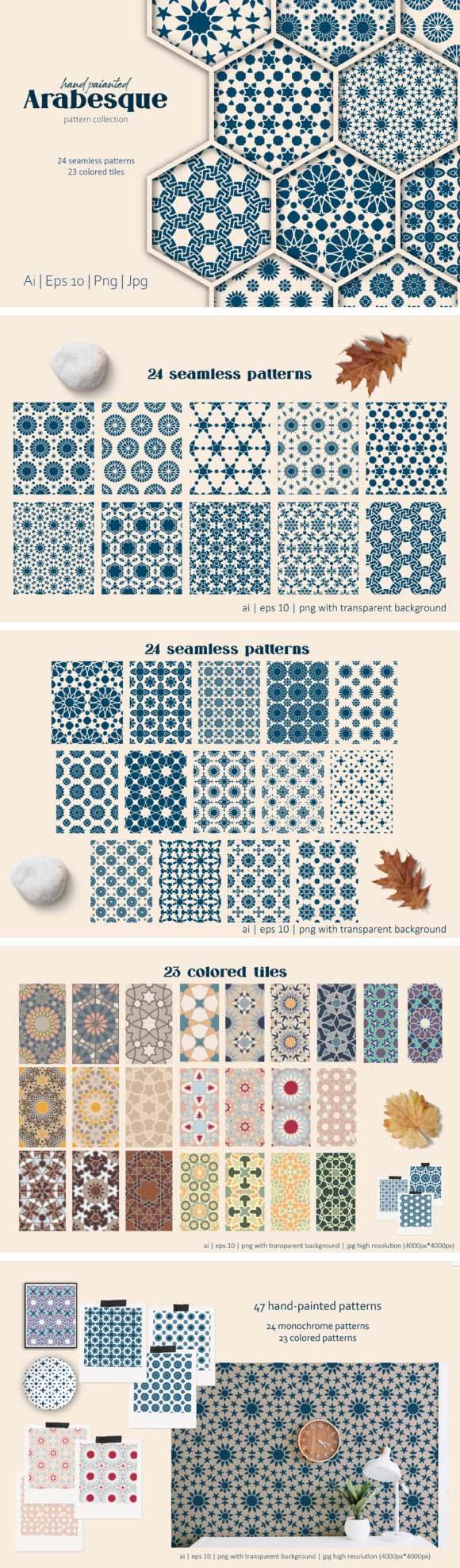 Arabesque Islamic Art Patterns