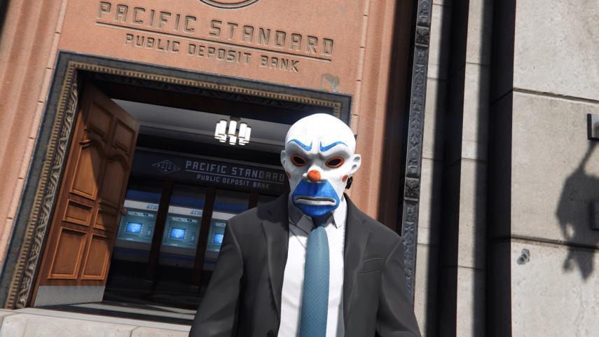 Joker mask in the Dark Knight