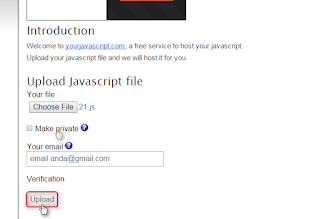 Menyimpan File Javascript di Yourjavascript.com