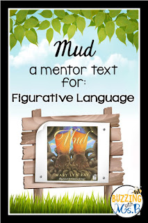 This post includes free download for teaching figurative language with the mentor text: Mud by Mary Lyn Ray. The download includes an anchor chart, activity worksheets, and a graphic organizer for upper elementary students.