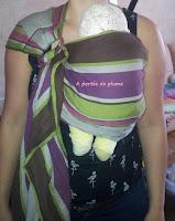 sling Néobulle Bulline portage bébé naissance nourrisson écharpe pratique facile