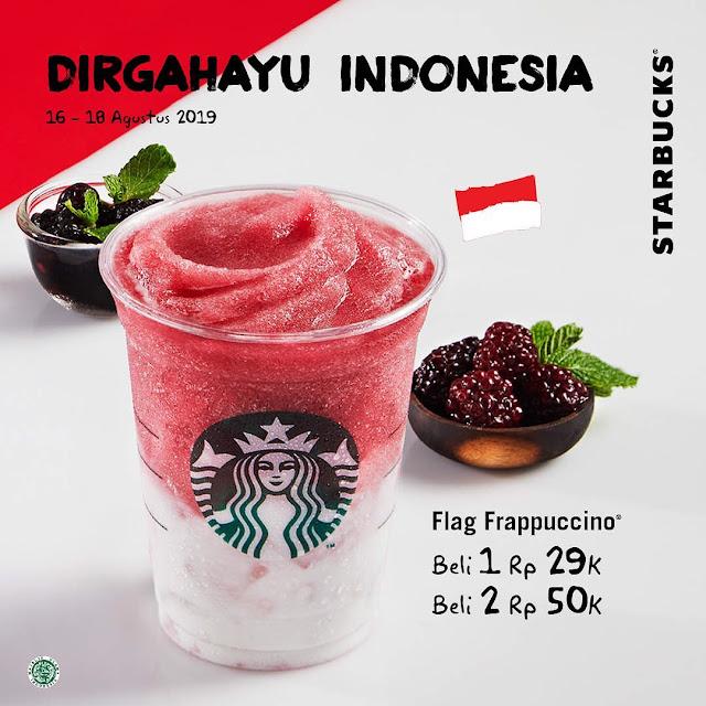 #Starbuck - #Promo Minuman Spesial Flag Frappuccino Beli 2 Hanya 50K (s.d 18 Agustus 2019)