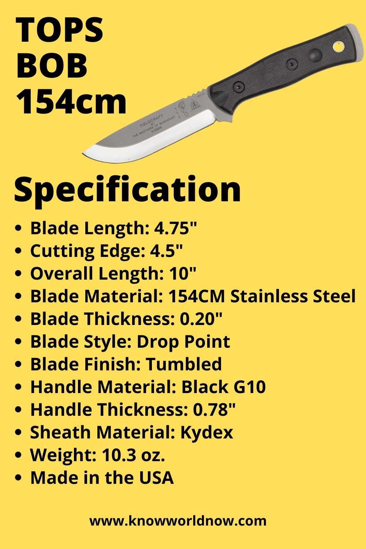 TOPS BOB 154cm Specification