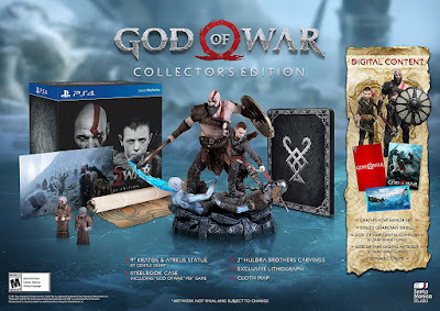God of War Game Cover PS4 Collector's Edition