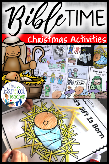 These Christmas Bible nativity activities for kids include crafts, readers, Bible stories, lesson plans for teachers, posters, games, songs, & more!