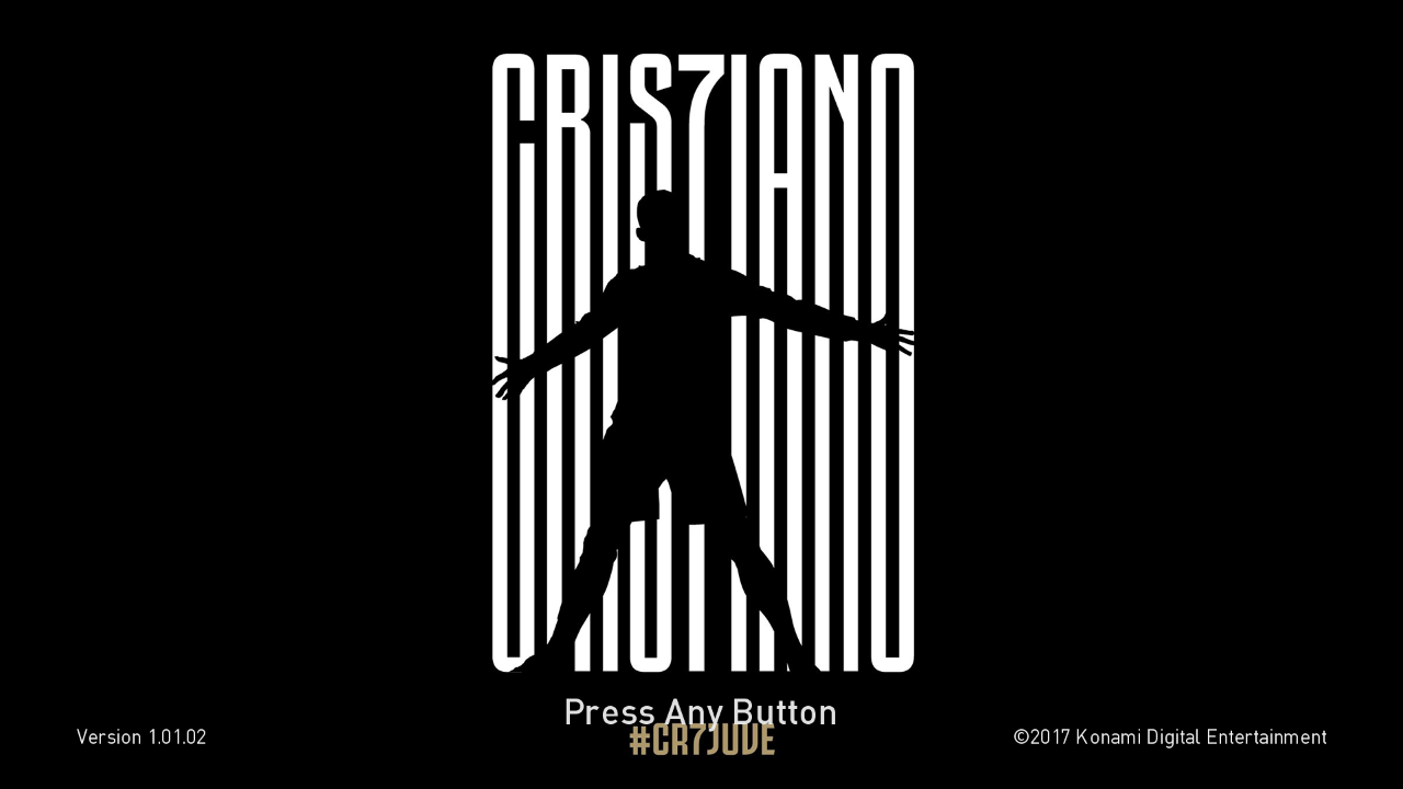 PES 2018 and PES 2017 CR7 Juventus Start Screen by ABW