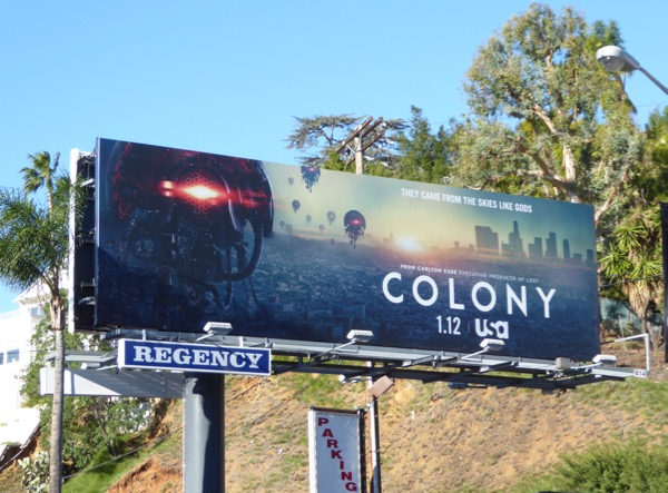 Colony season 2 TV billboard