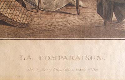 Jean-François Janinet - La Comparaison - acquatinta del 1786 - annunci