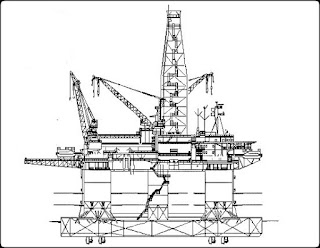 Oil rig for oil extraction