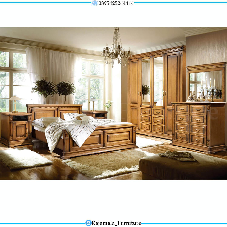 Best Seller Tempat Tidur Minimalis Natural Kayu Jati Perhutani RM-0443