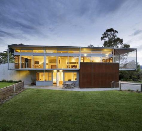 desain rumah minimalis kaca