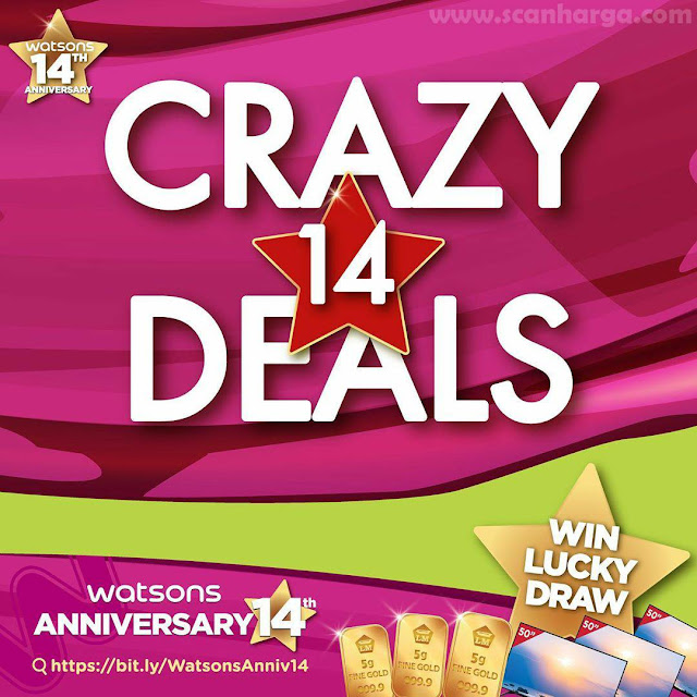 Promo Watsons Crazy Deal Discount Up To 70% Off