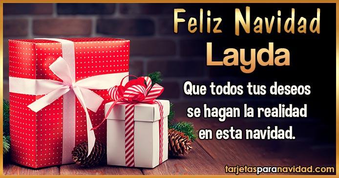 Feliz Navidad Layda
