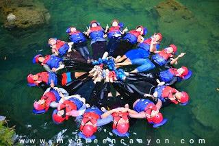 Formasi lingkaran body rafting