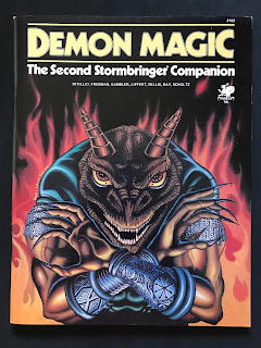 Cover of Demon Magic: The Second Stormbringer Companion, published by Chaosium.