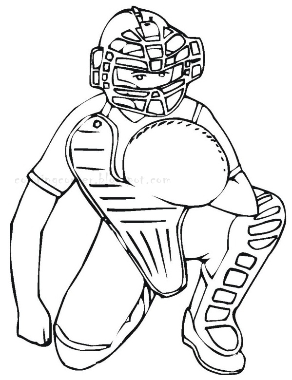 coloring pages baseball player - photo#23