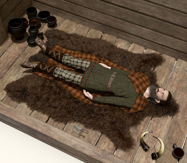 Grave of elite Bronze-Age man from Poland reconstructed