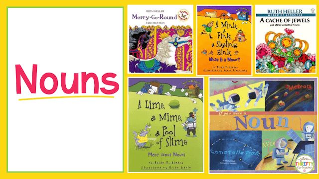 Here is a list of picture books to teach nouns. Use these to introduce nouns and engage your upper elementary students.